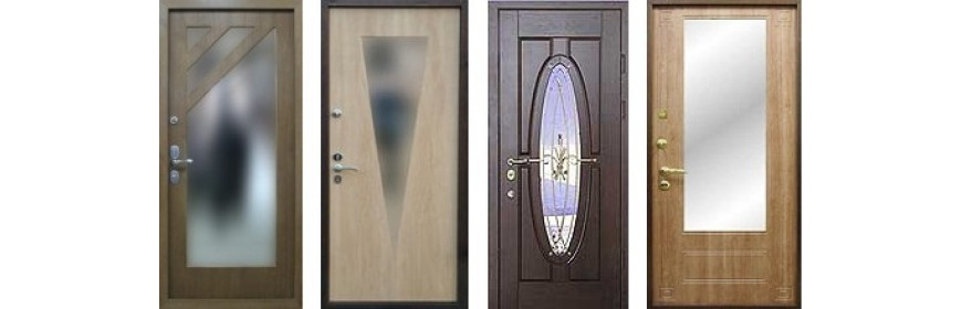 Стальные двери с зеркалом