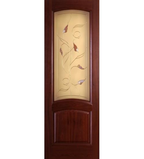 Шпонированная дверь Ровере витраж Ангел Диодорс