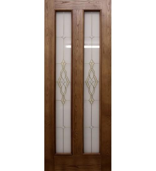 Дверь ДА7-2 витраж Альфа