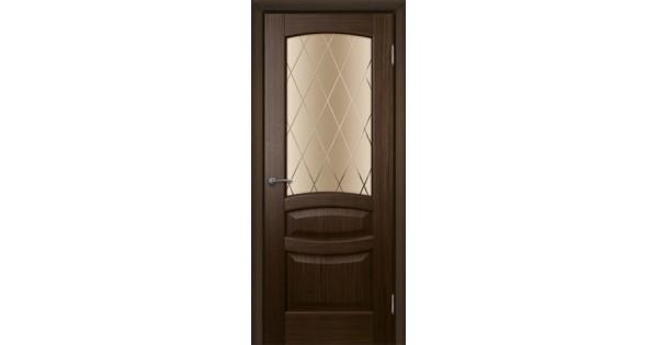 Дверь шпонированная Алина ДО (стекло) Альвион