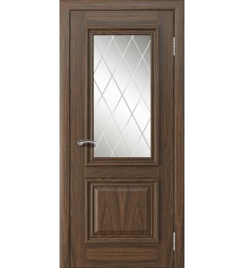 Дверь Альвион Белла багет стекло Решетка