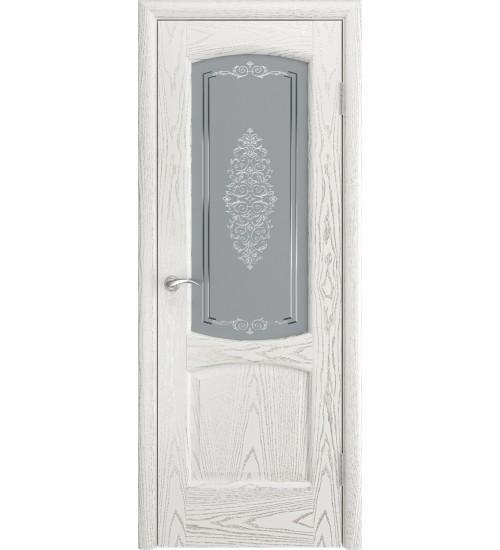 Венеция ясень белый серебро стекло Заливка