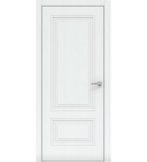 Дверь 1302-ГЛ Пирамида белая эмаль