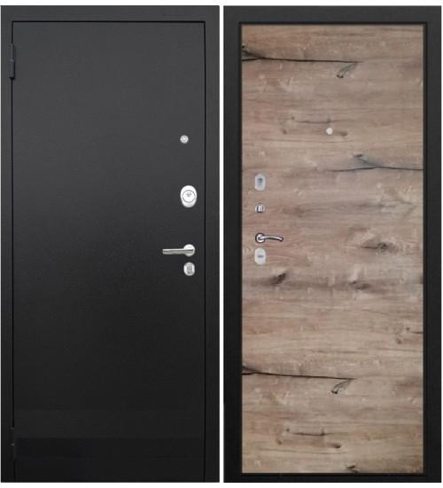 Стальная дверь 3К лайт черный муар/дуб пацифика