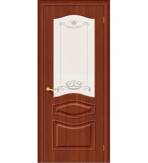 Дверь Леона ДО ПВХ матовое стекло с худ печатью