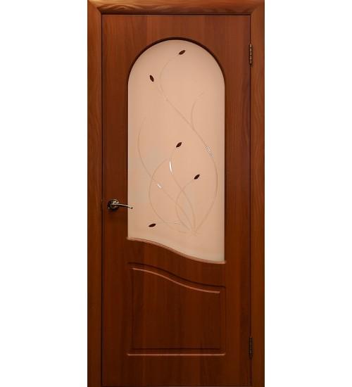 Дверь Анастасия ПВХ ДО со стеклом