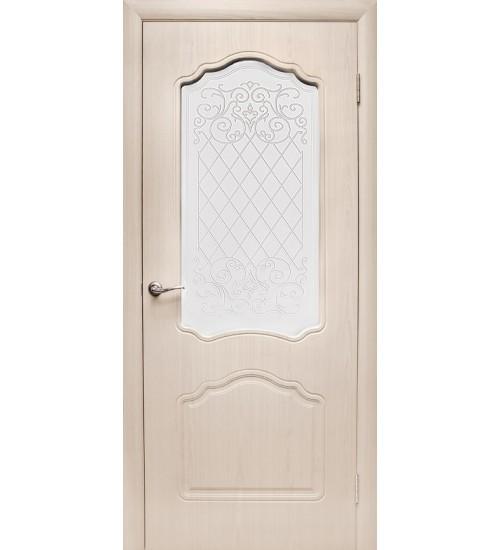 Дверь Боненти ПВХ ДО со стеклом Дубрава