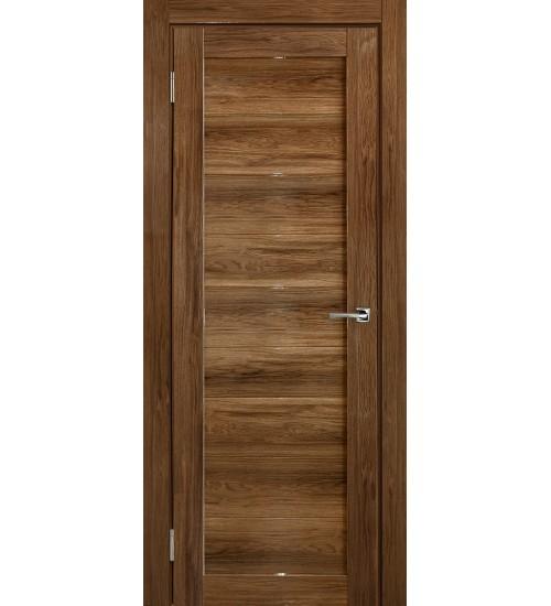 Дверь Глухая дуб шоколадный глянец