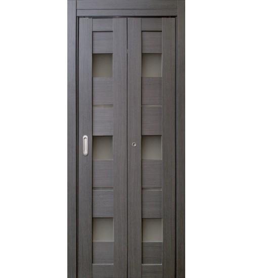 Дверь-книжка Параллель дуб грей экошпон