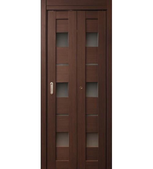 Дверь-книжка Параллель клён марроне экошпон