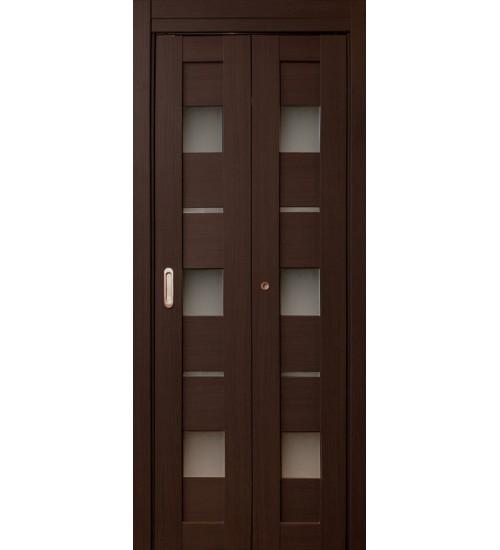 Дверь-книжка Параллель орех темный экошпон
