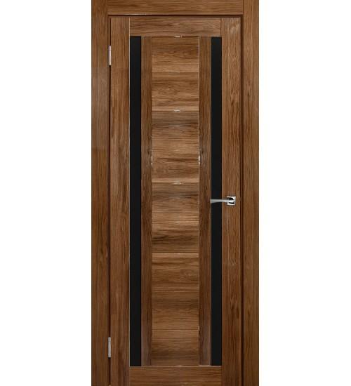 Дверь Тандем дуб шоколадный глянец