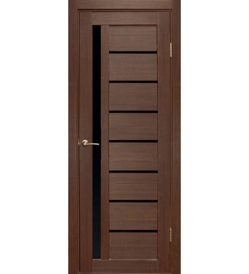 Дверь Вертикаль черный лакобель FORET