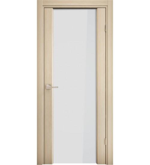 Дверь 3/3 Ладора белое стекло
