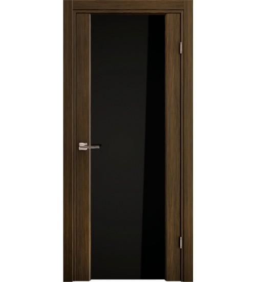 Дверь 3/3 Ладора черное стекло