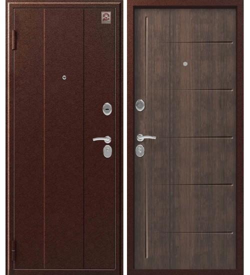 Металлическая дверь Центурион С-102 антик медь/венге