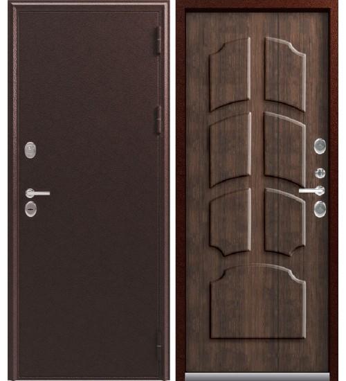 Стальная дверь Эталон термо ТМ2 медь/дуб мэлвил