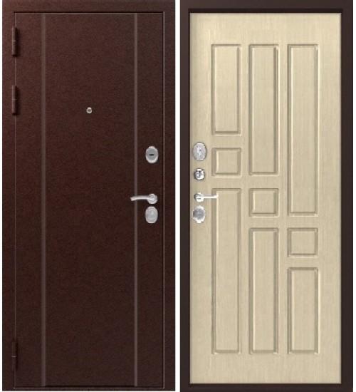 Стальная дверь Эталон Х-10 серебро