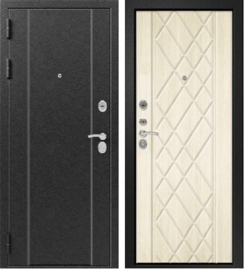 Стальная дверь Эталон Х-30 серебро/седой дуб