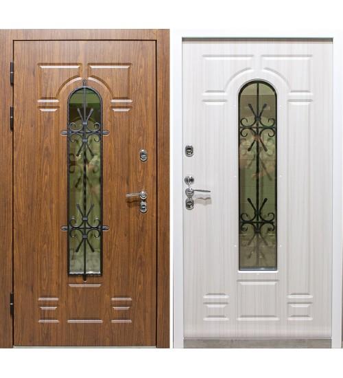 Дверь Венеция Термо стеклопакет орех премиум/сандал белый