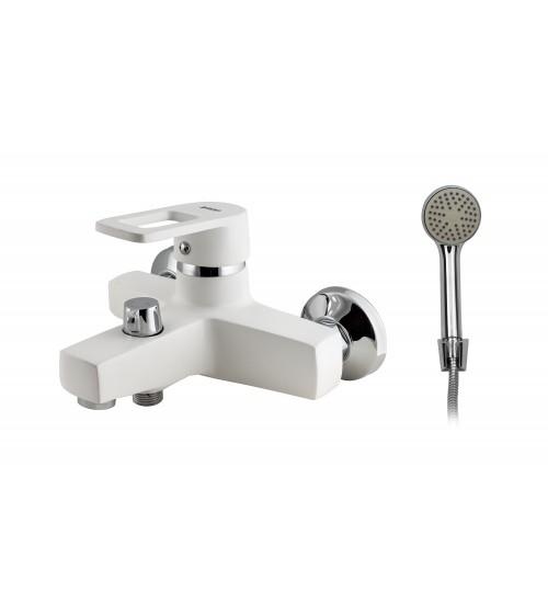 Смеситель для ванны с душем TURDUS 36 VD2 WHITE