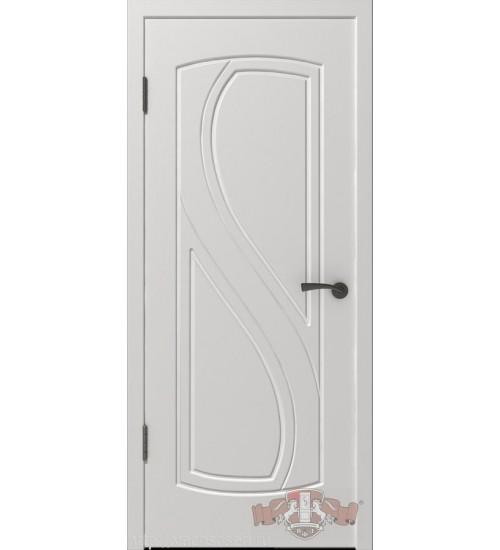Дверь 10ДГ0 белая эмаль шпонированная ВФД