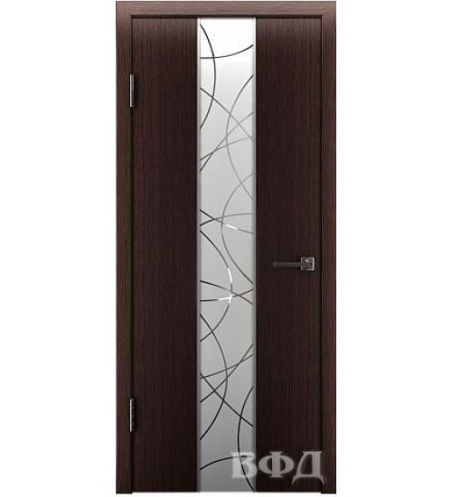 Дверь 16ДО7 зеркало 1 шпонированная ВФД
