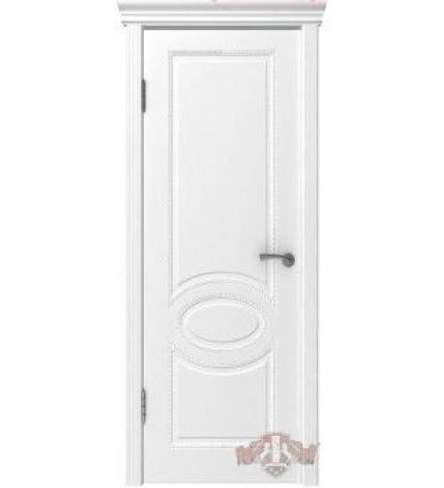 Дверь 29ДГ0 Оксфорд белая эмаль ВФД