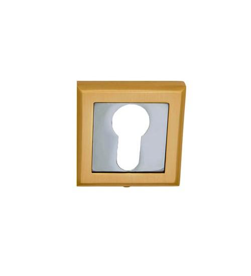 Накладка на цилиндр PALIDORE квадрат СLS SB матовое золото
