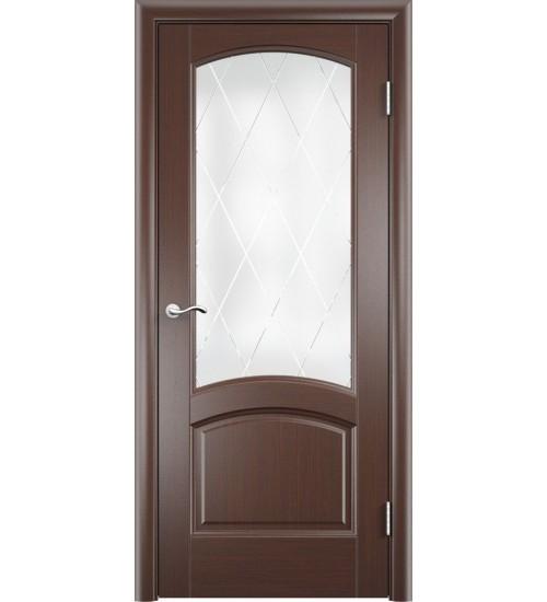 Дверь Криста лайт стекло Готика черный дуб