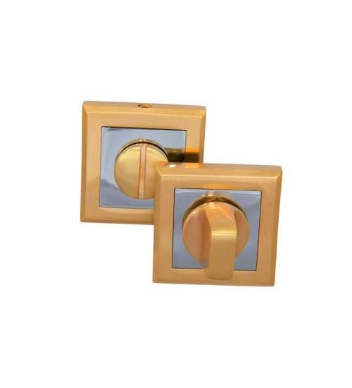 Завертка на квадратной накладке PALIDORE OLS SB матовое золото