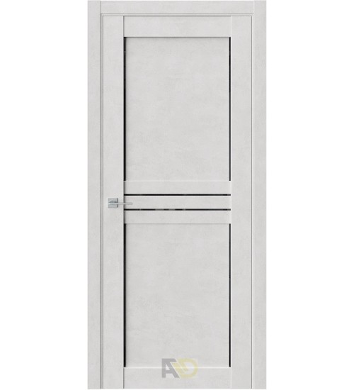 Дверь Estet XC3 черный лакобель бетон лайт