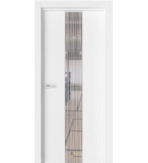 Дверь Estet Экзотика-6 зеркало рисунок Дождь вельвет