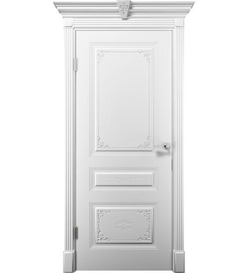 Дверь Эмилия ДГ белая эмаль