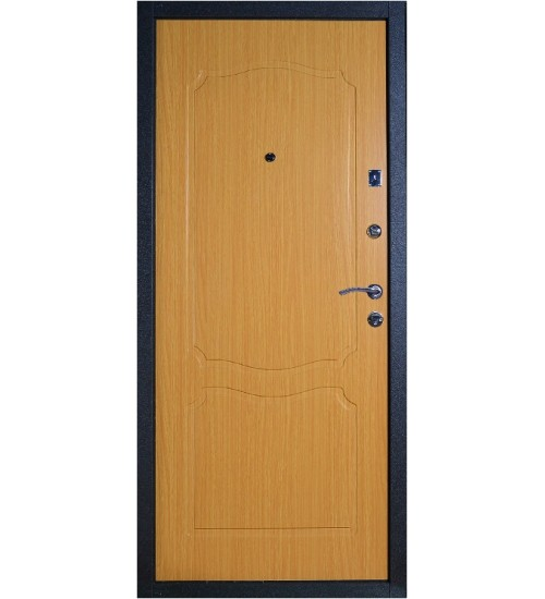 Стальная дверь Аргус Фактор 1 черный шёлк/миланский орех