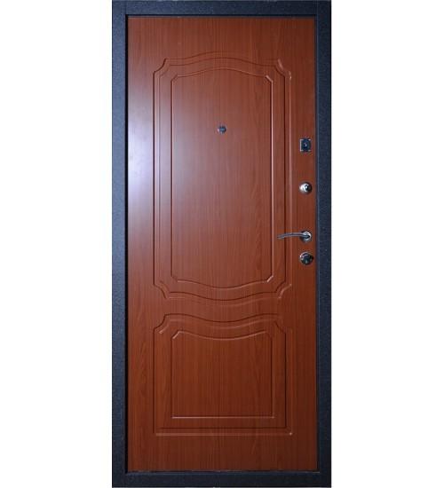 Стальная дверь Аргус Фактор 2 черный шёлк/итальянский орех