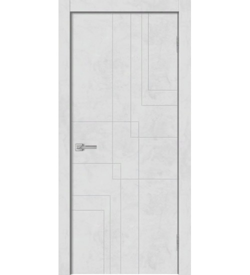 Дверь GEO-3 бетон снежный ПВХ