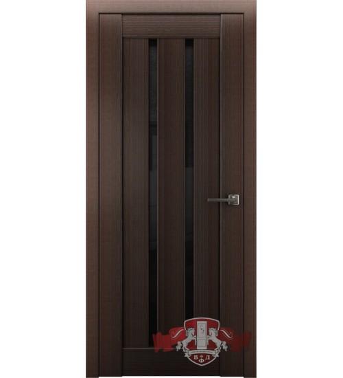 Дверь ВФД Л2ПГ4 черное стекло венге
