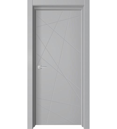 Дверь Premiata-6 софт серый, алюм кромка
