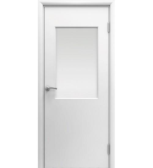 Дверь со стеклом ПВХ влагостойкая