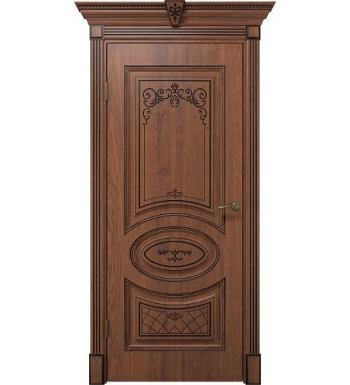 Дверь Вителия ДГ дуб янтарный патина черная
