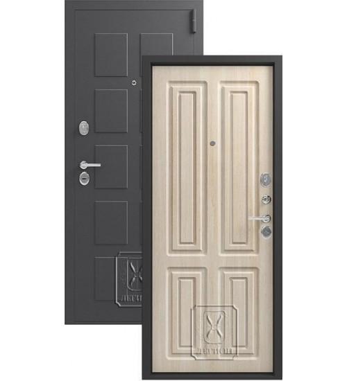 Металлическая дверь Легион L-5 серый блеск/седой дуб