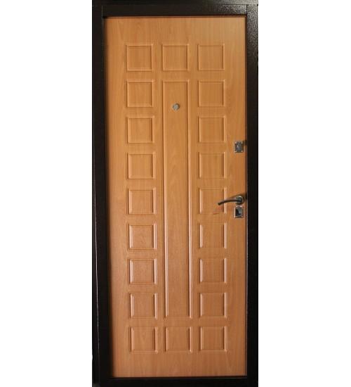 Металлическая дверь Зевс S-2 медь миланский  орех