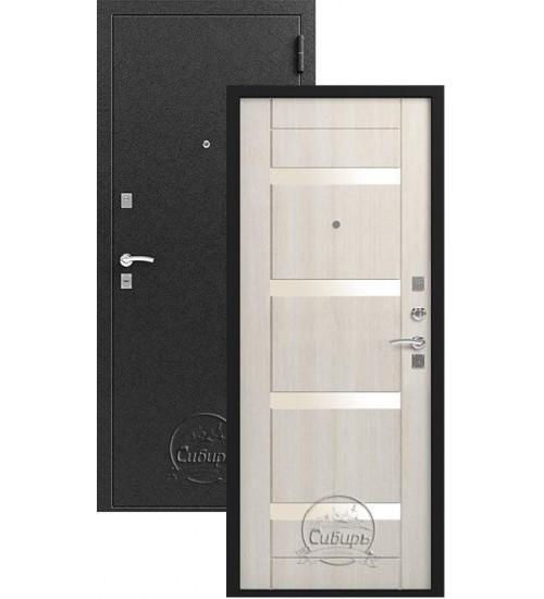 Металлическая дверь Зевс S-5 черный шелк/каньон