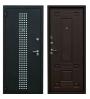Металлическая дверь Зевс Z-5 Италия черный шелк с перфорацией/венге шёлк