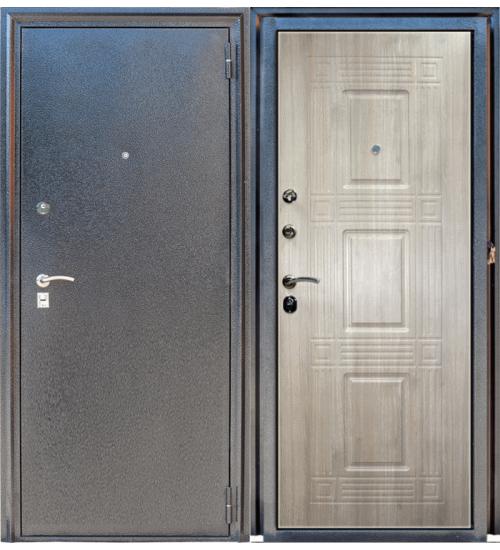 Металлическая дверь Зевс Z-6 серебро/седой дуб