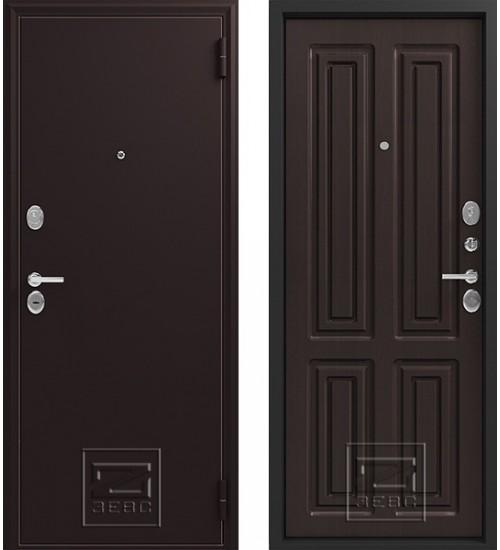 Металлическая дверь Зевс Z-6 шелк бордо/венге шелк