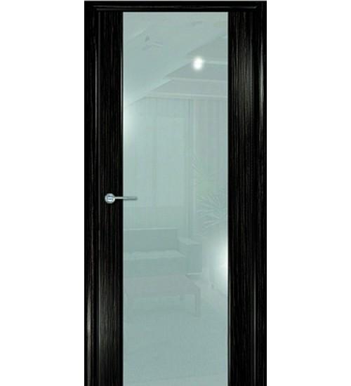 Дверь Маэстро белый триплекс дуб бордо