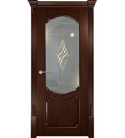 Дверь Венеция стекло Belvels красное дерево