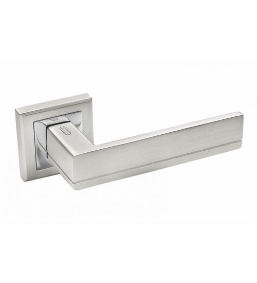 Ручка дверная 293BSL Palidore матовое серебро/хром